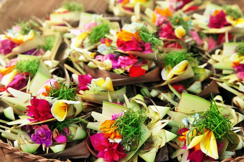 Balinese Ceremony Offerings